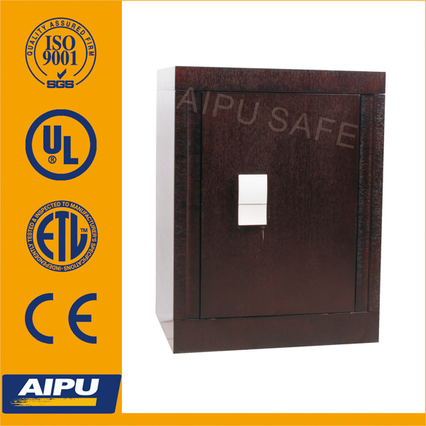 Fire Proof Wooden Finish Luxury Home Safe with Double Bitted Key Lock (690-Wk)