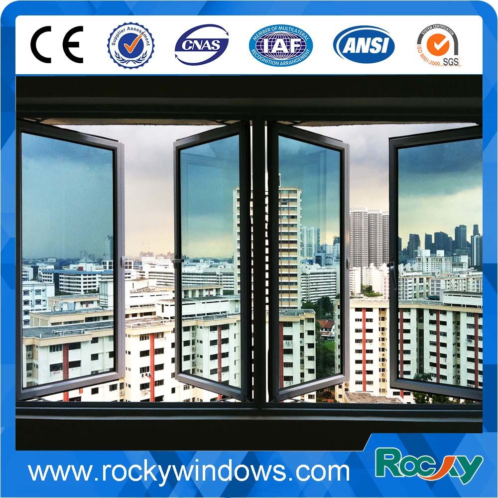 Comply with Australian & Nz Double Glazed Thermally Broken Aluminium Windows