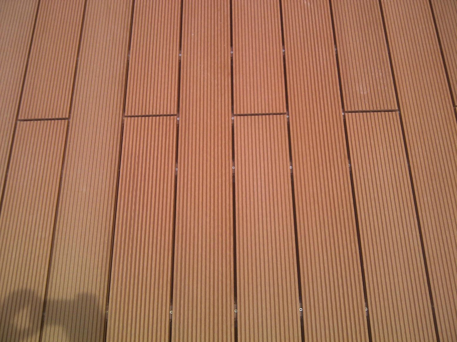 Outdoor Waterproof Wood Plastic Composite Decking / WPC Outdoor Decking (HO023147)