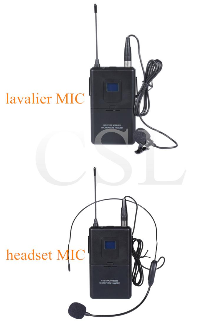 PRO Audio UHF Two Channel Karaoke Wireless Microphone with FCC