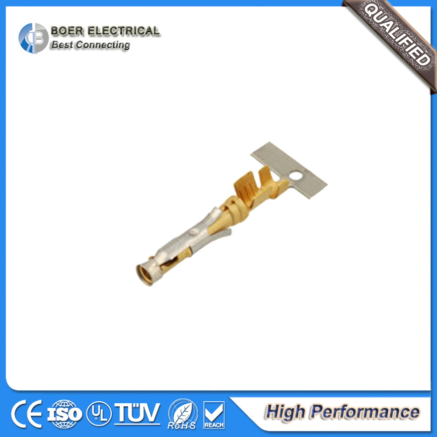 High Performance Cable Connector Gold Plated Terminal 66598-2