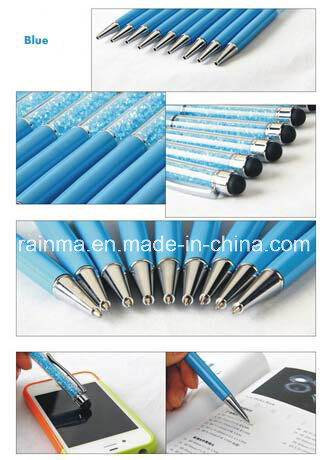 Stylus Ball Pen with Crystal