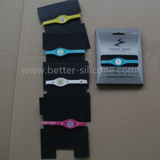 Fashion Elastomer Energy RFID Smart Rubber Silicone Wristband