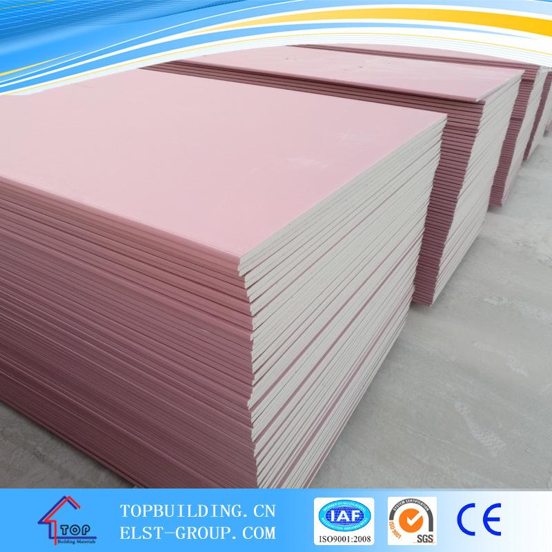 Gypsum Ceiling Board/Moisture Proof Gypsum Board/Plasterboard/Gypsum Board 1220X2440X12mm