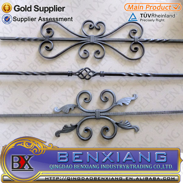Garden Decorative Casting Wrought Iron Railing with Power Coading