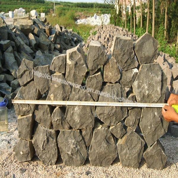 Black Basalt Stone Wall : Black basalt wall rock stone china