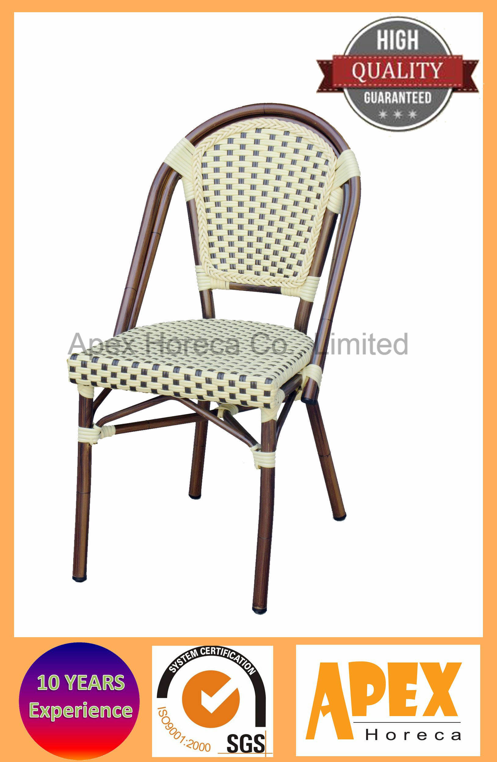 Bistro French Chair Wicker Chair Bamboo Look Cafe Furniture