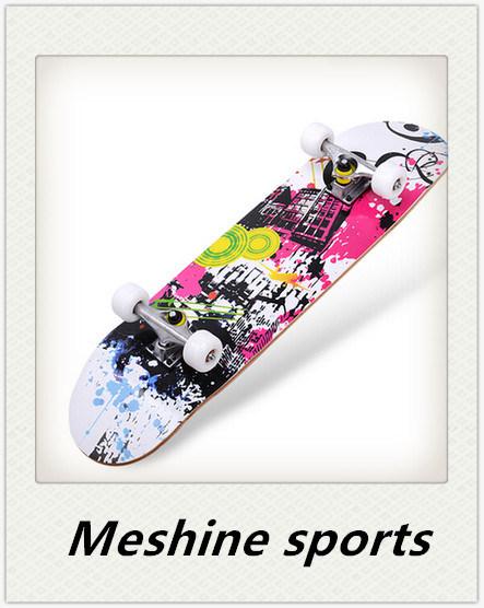 4 Flashing Wheels Maple Wood Scooter Skateboard