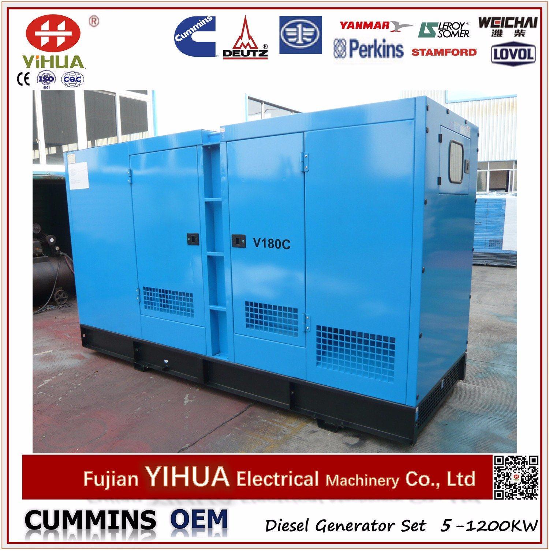 China Dcec OEM Cummins Engine 200kVA 160kw Electric Silent Diesel
