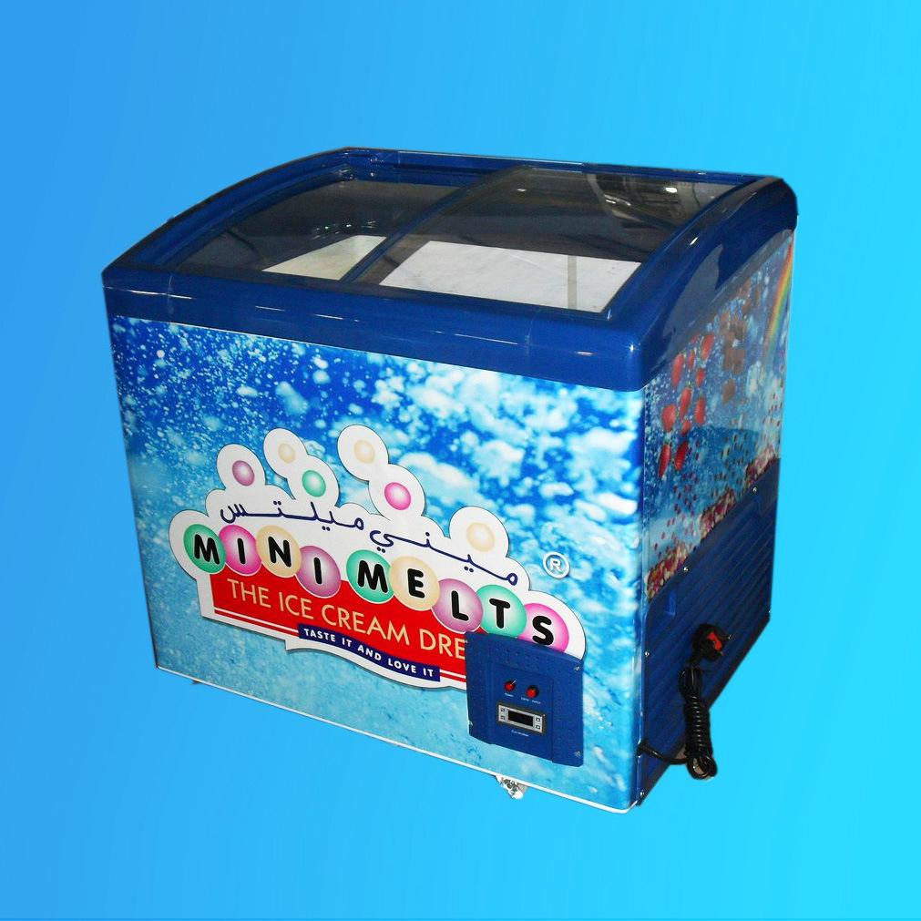 Display Freezer, Ice Cream Freezer, Showcase SD/Sc-258y