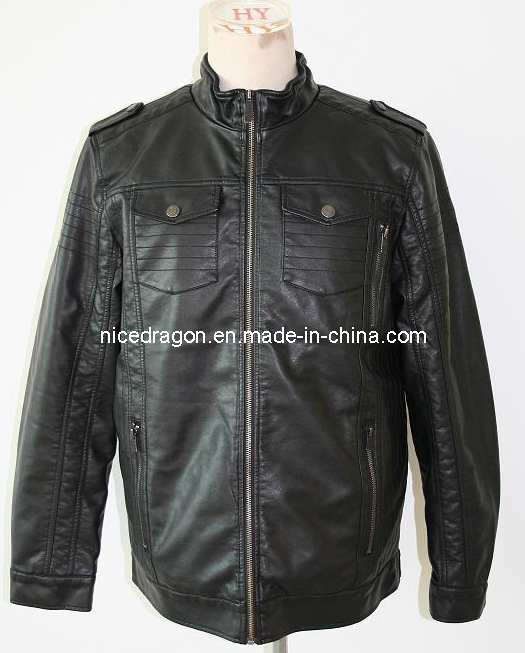 Hooded PU leather jacket Blacks MENS JACKET Faux Leather coat Racing