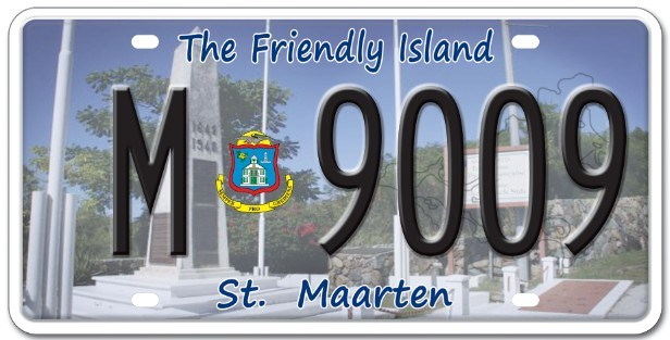 St. Maarten License Plate, License Plate, Car License Plate