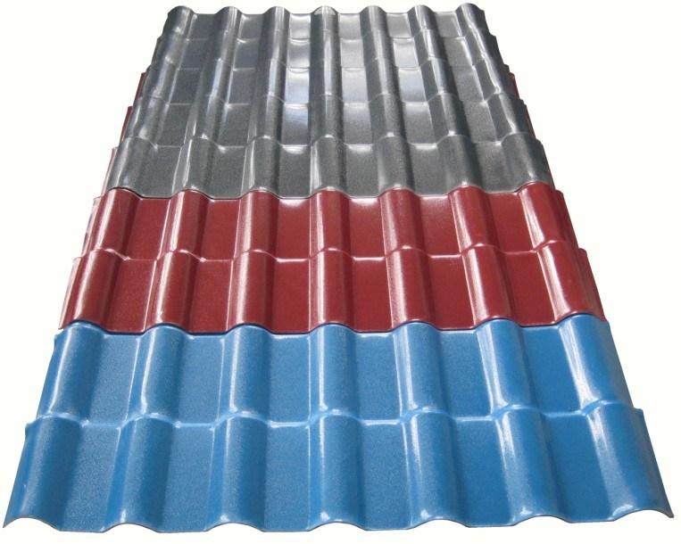 China colour plastic pvc roof tile for building materials for Plastic building materials