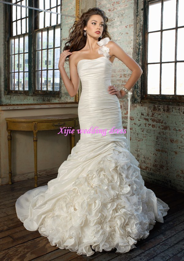 mermaid wedding dresses 2011 uk. 2011 New Mermaid One-Shoulder