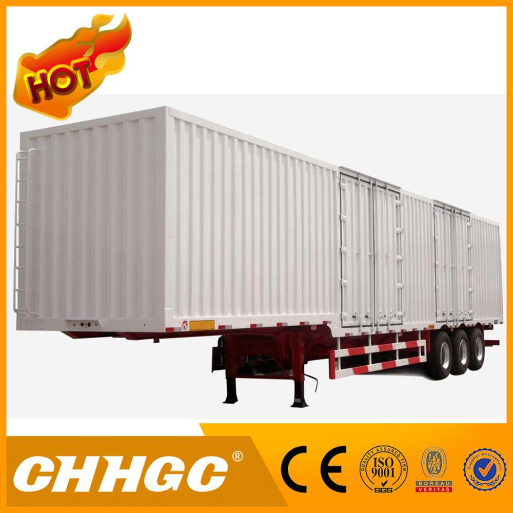 3 Axle 50 Ton Truck Van Type Semi Trailer/Cargo Box Semi Trailer with Heavy Duty Suspension