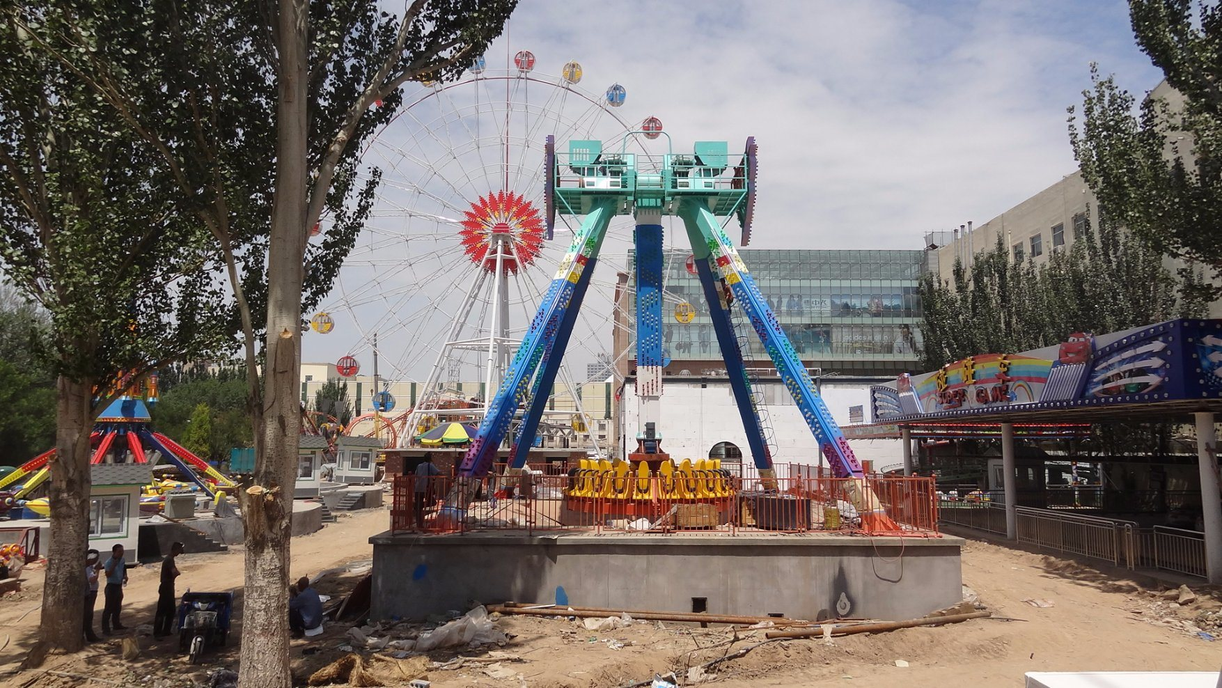 Amusement Track Crazy Big Pendulum Rides! Outdoor Playground Big Pendulum