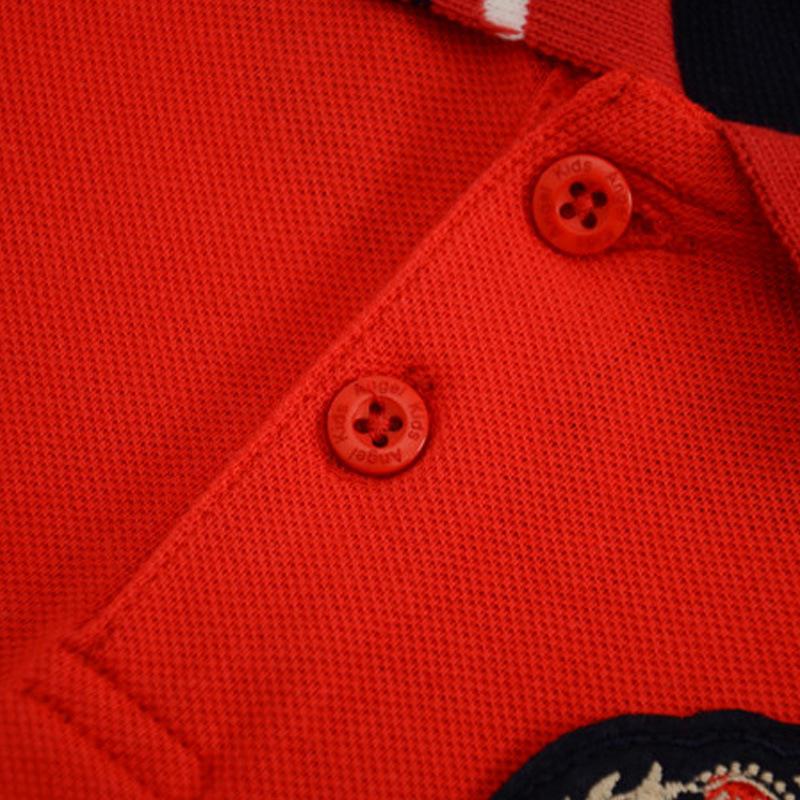 Boys Cotton Pique Long Sleeve Polo T-Shirt