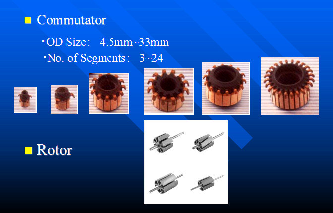 High Quality Micro Motor Parts Hook Commutator