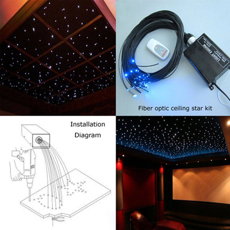 LED Light Swimming Pool Bottom Star Fiber Optic Lighting