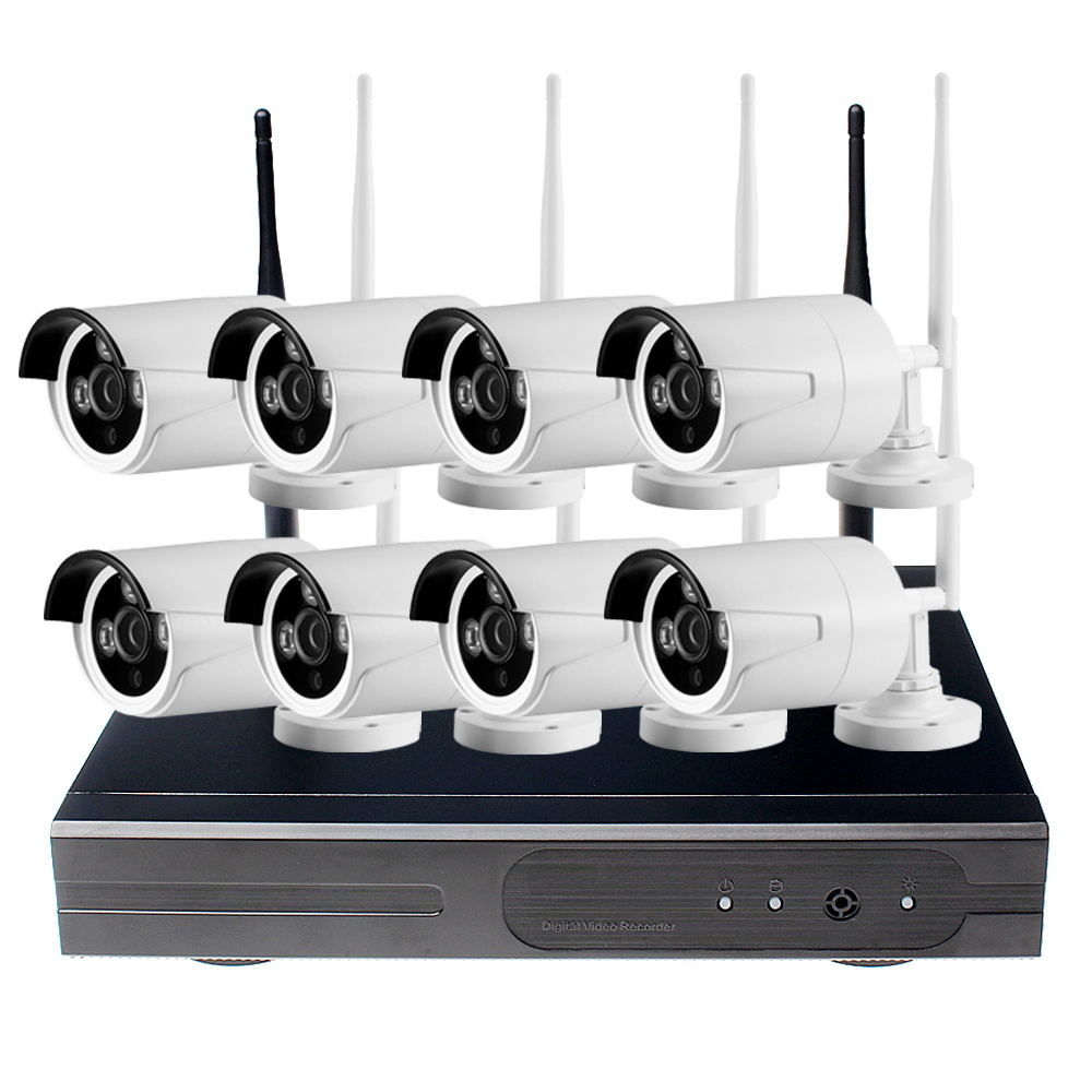 CCTV System 720p NVR 4/8PCS P2p 720p HD Outdoor