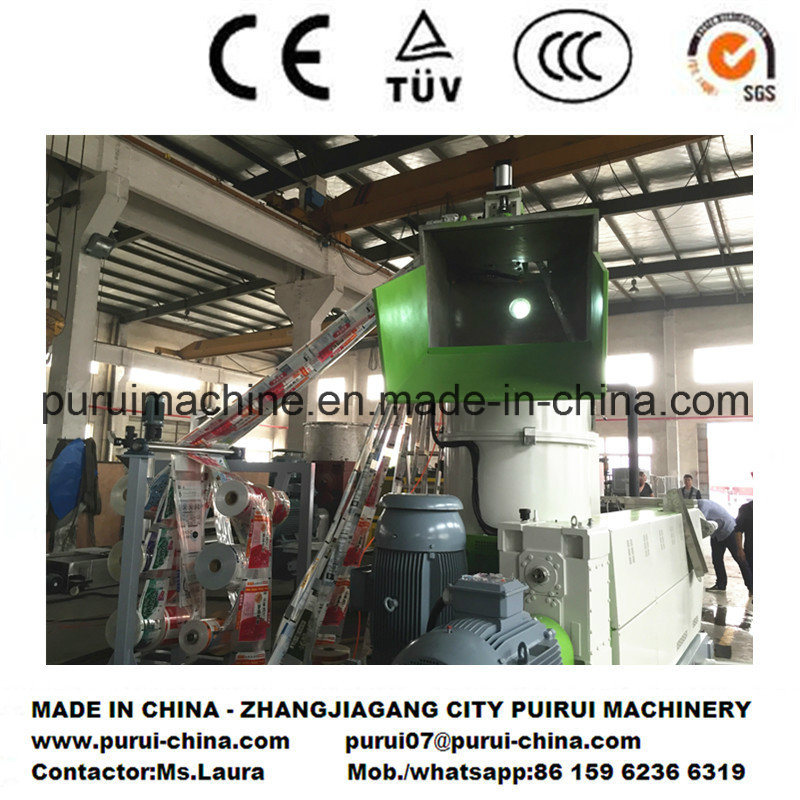 Plastic Film Recycling Pelletizer for Recycling Light Printed Blown Film