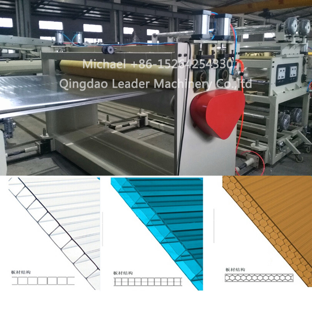 Polycarbonate PC Hollow Sheet Extrusion Machine