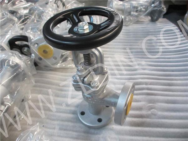 DIN J44h Cast Steel Pn40 Angle Type Globe Valve Stop Valve