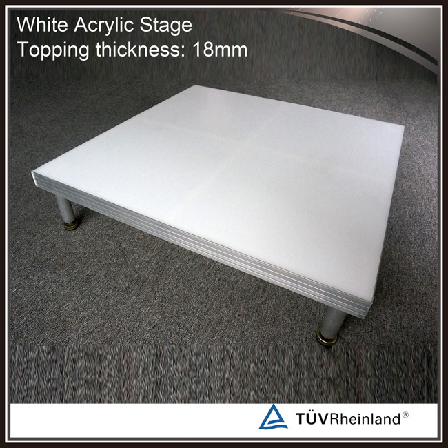 White Acrylic Stage Platform Glass Truss Stage