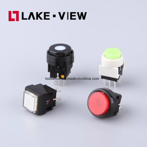 Illuminated Pushbutton Switch with on off Actuator Illuminated for All Broadcast Panel Needs