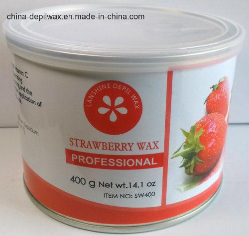 Strawberry Depilatory Wax Soft Strip Wax 400g Can
