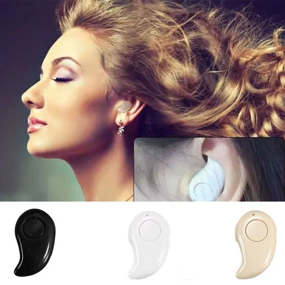 Mini Wireless Bluetooth 4.0 Stereo in-Ear Headset Earphone for Samsung iPhone RF