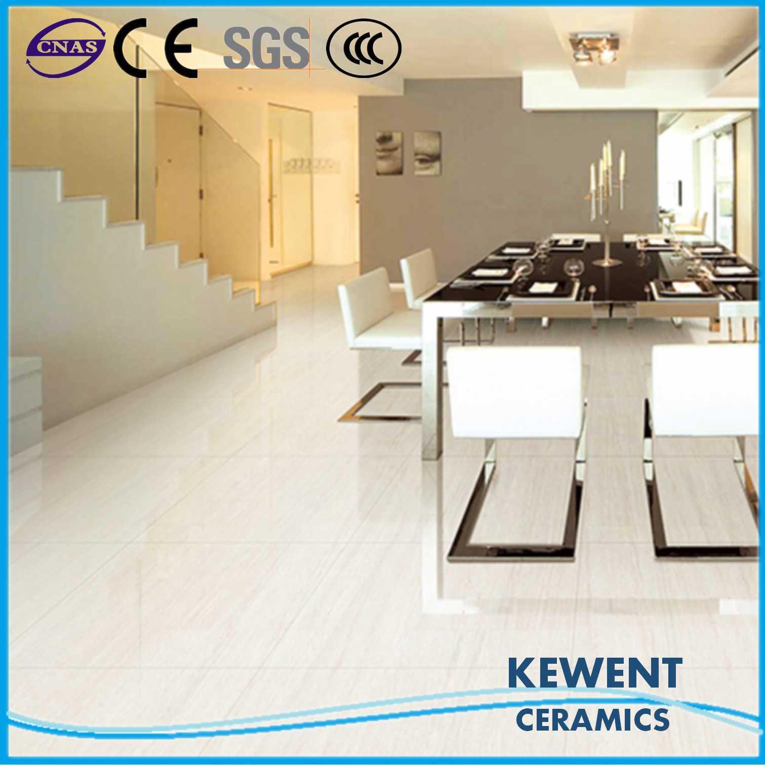 Hot Sale Linestone Series White Doule Loading Polished Porcelain Tile