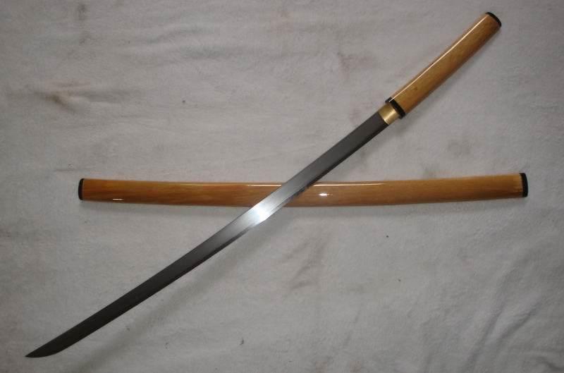 Hand Forged Hira Zukuri Shirasaya Katana Sword/Real Sword