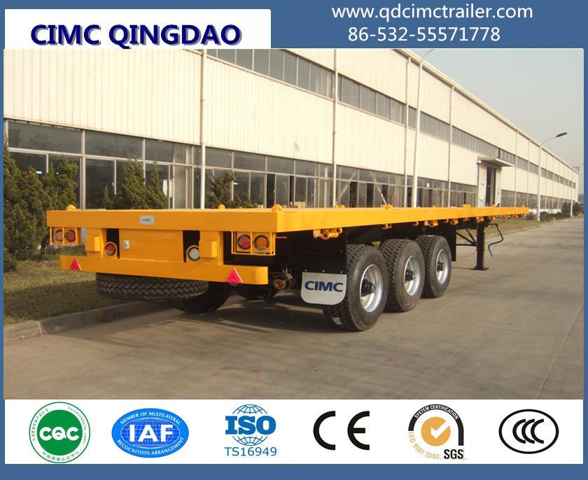 Cimc 40FT 3 Fuwa/BPW Axle Flatbed Container Semi-Trailer
