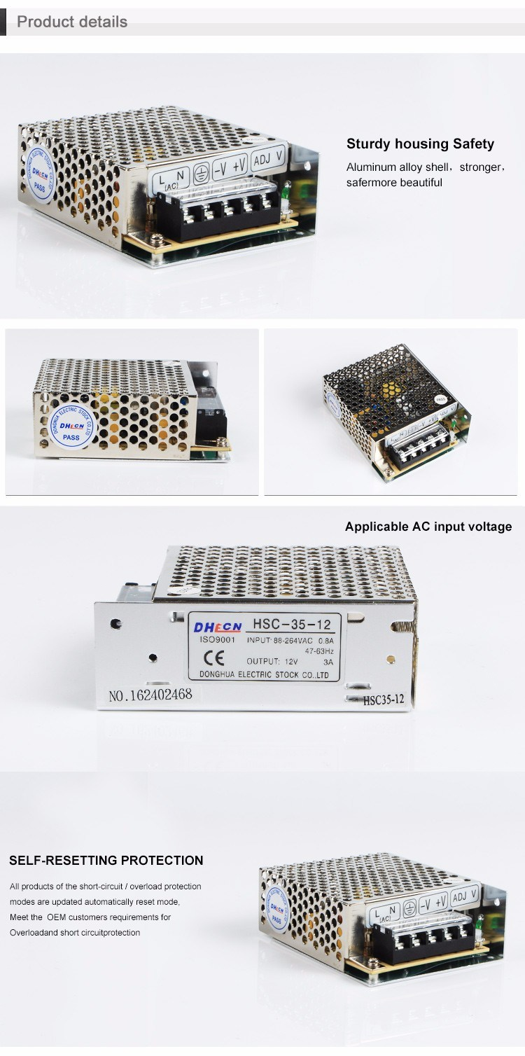 HSC-35 Single Output Switching Power Supply Full Range AC Input From 88 to 264V