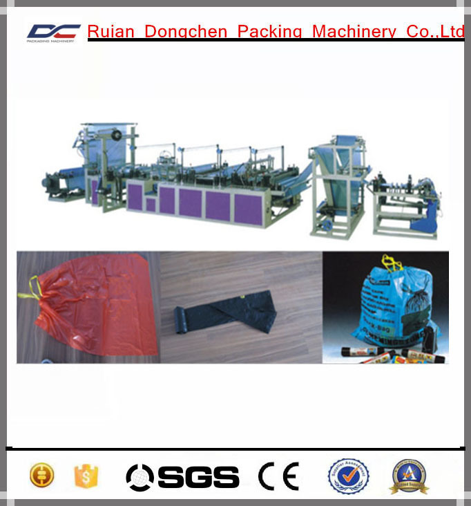 Automatic Poly String Drawing Bag Making Machine (DC-ZC1000)