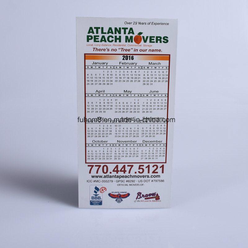 Custom Fashion Paper Calendar Fridge Magnet