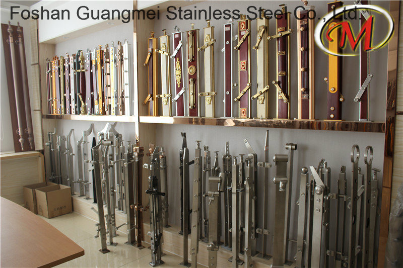 Titanium Stainless Steel Stair Railing Pillar (GM-545 / GM-B003K / GM-B165-2)