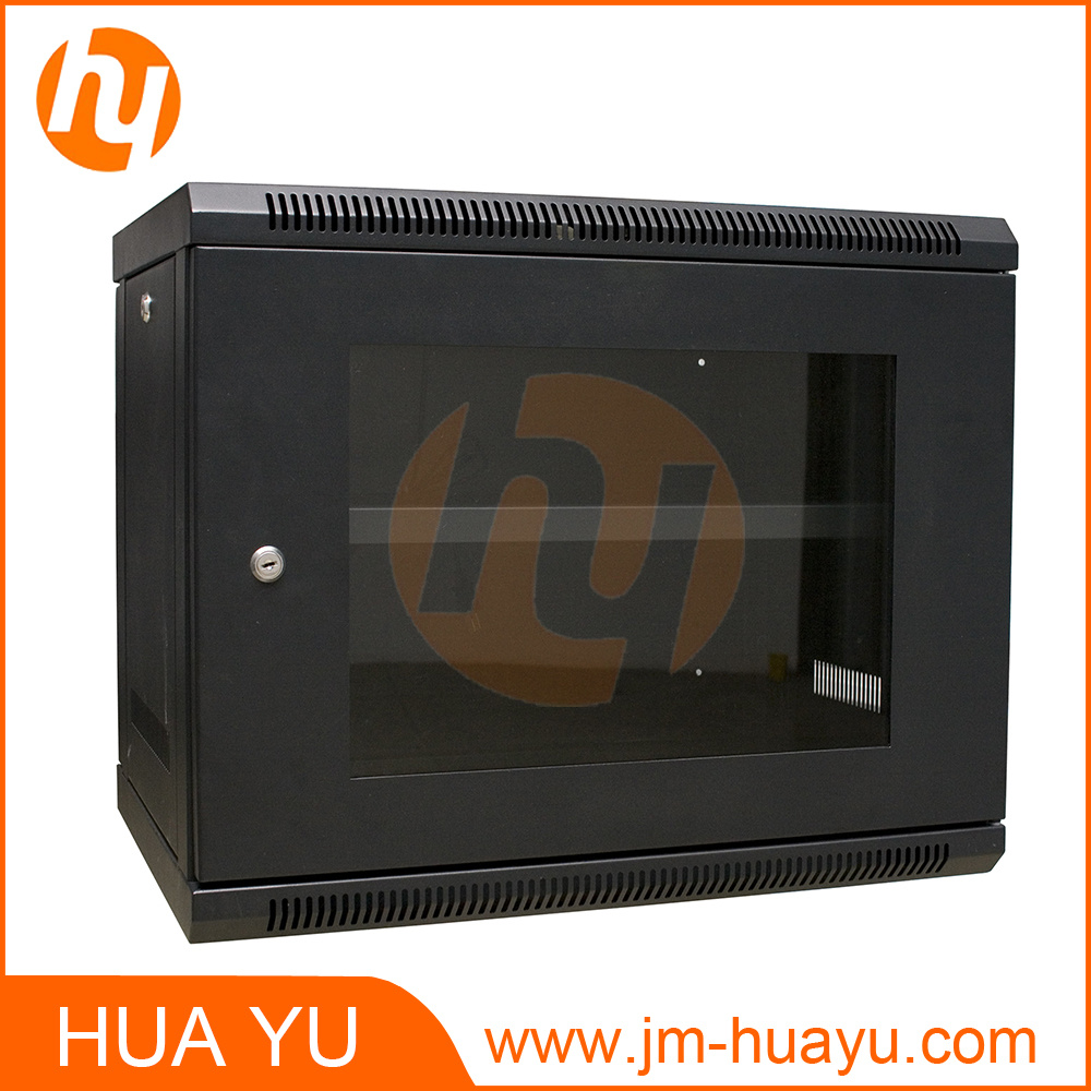 Powder Coating Black Telecom Cabinet Network Cabinet 19in Standard