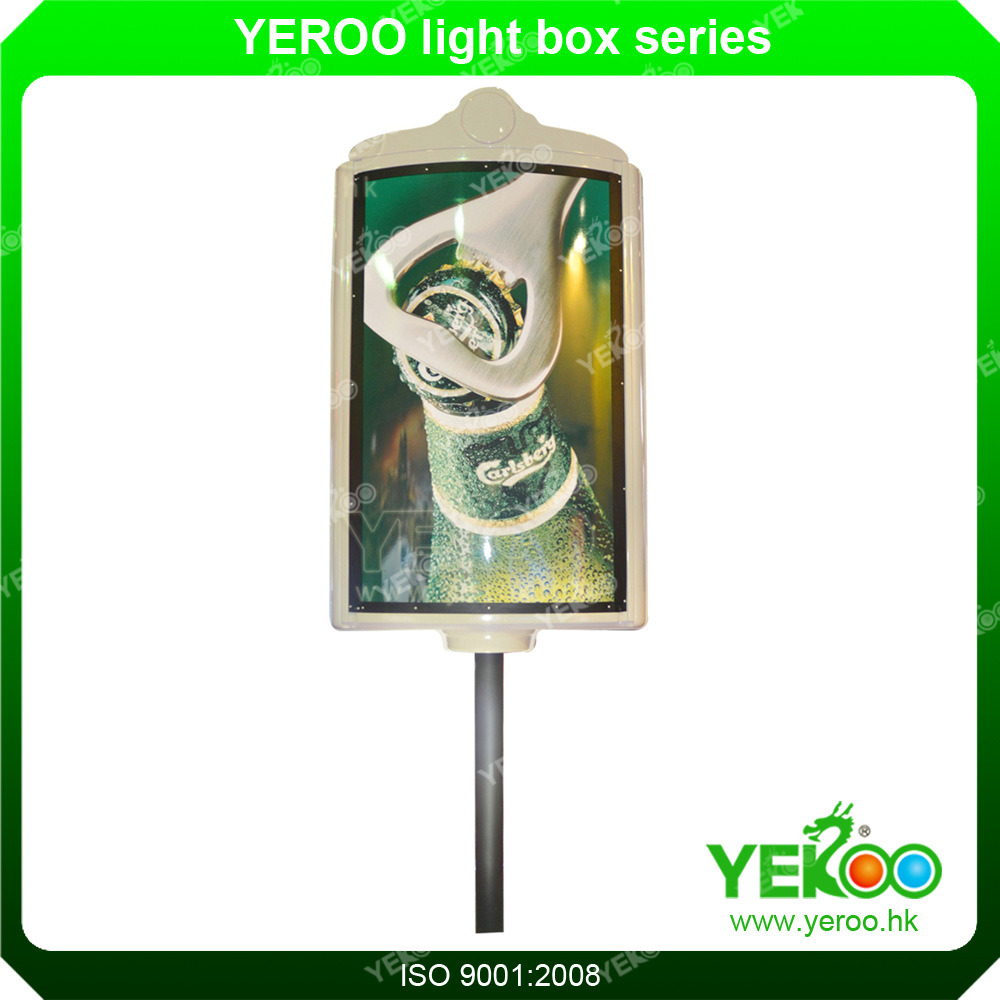 Strong Material Glass Fabric Advertising Lamp Pole Display