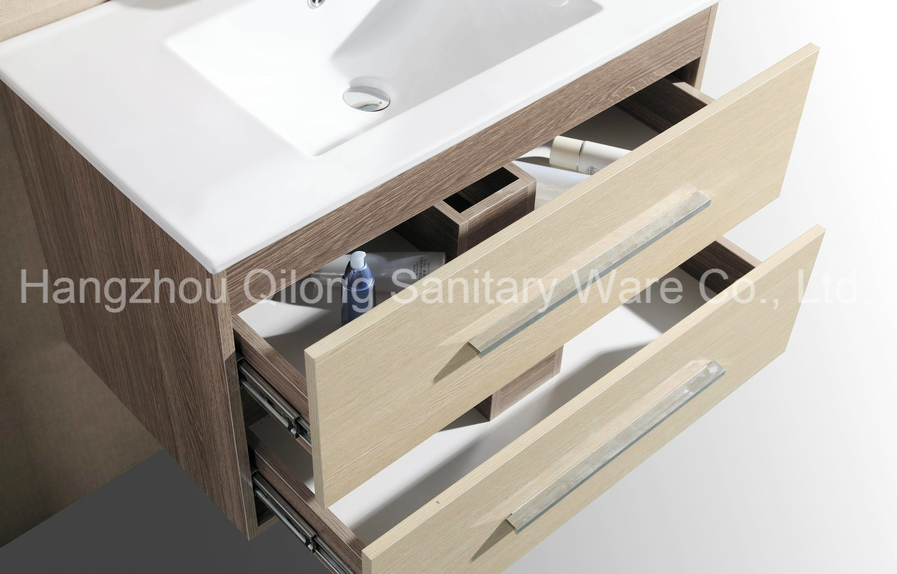 Wall-Mounted MDF Bathroom Vanity with Melamine Furniture