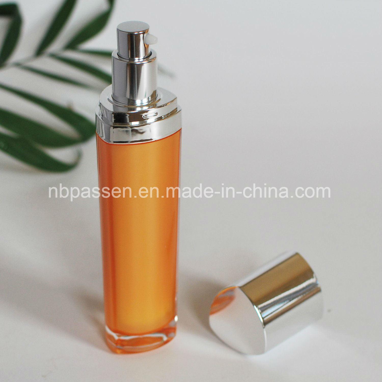 15/50ml Orange Acrylic Cosmetic Bottle with Lotion Pump (PPC-NEW-095)