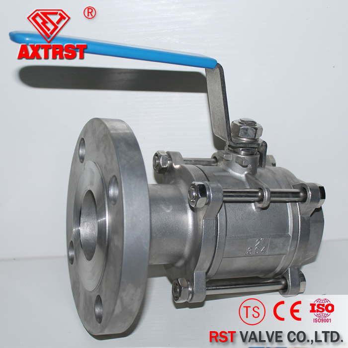 DIN 3PC Thread/Flanged Ends Stainless Steel Ball Valve pictures & photos