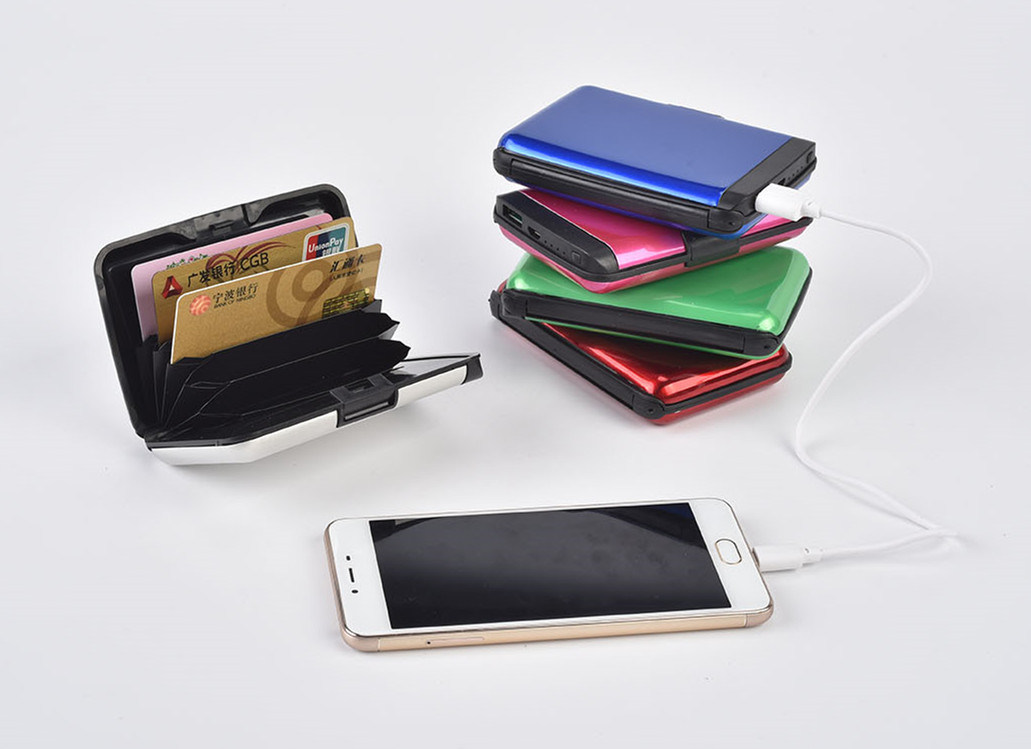 Ningbo Wholesale Rechargeable 2 in 1 Power Bank and Wallet