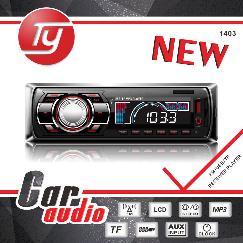 Fixed Panel Car MP3 with LED Screen Bluetooth Phone