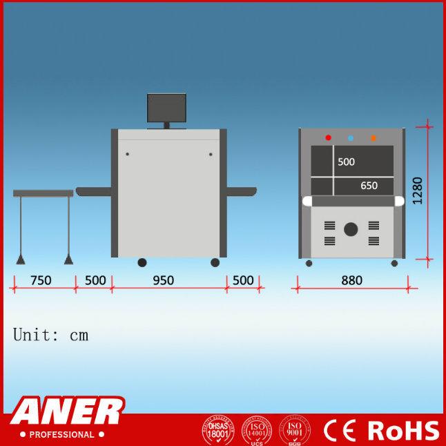 K6550 Parcel Inspection High Sensitivity Station X Ray Baggage Scanner