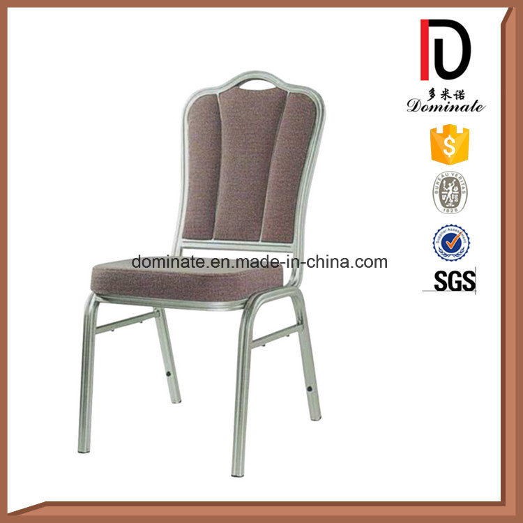 Round Back Red and White Stripe Fabric Dining Chairs