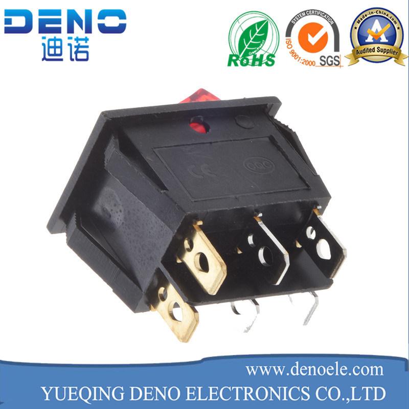 3 Pin Lighted Waterproof Kcd01 Kcd1 Rocker Switch
