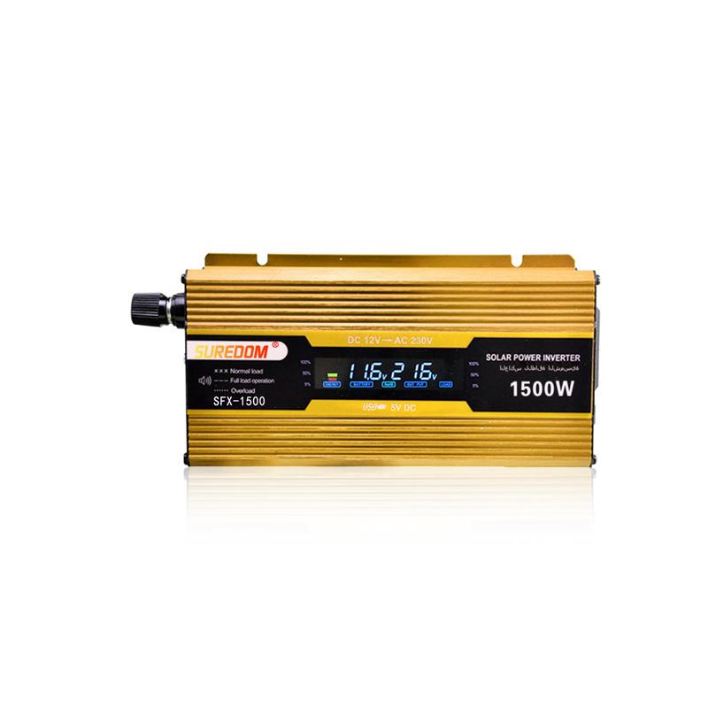 Inverter 12V 220V 1500W 50Hz Car Power Inverter with Digital Display DC to AC Inverter