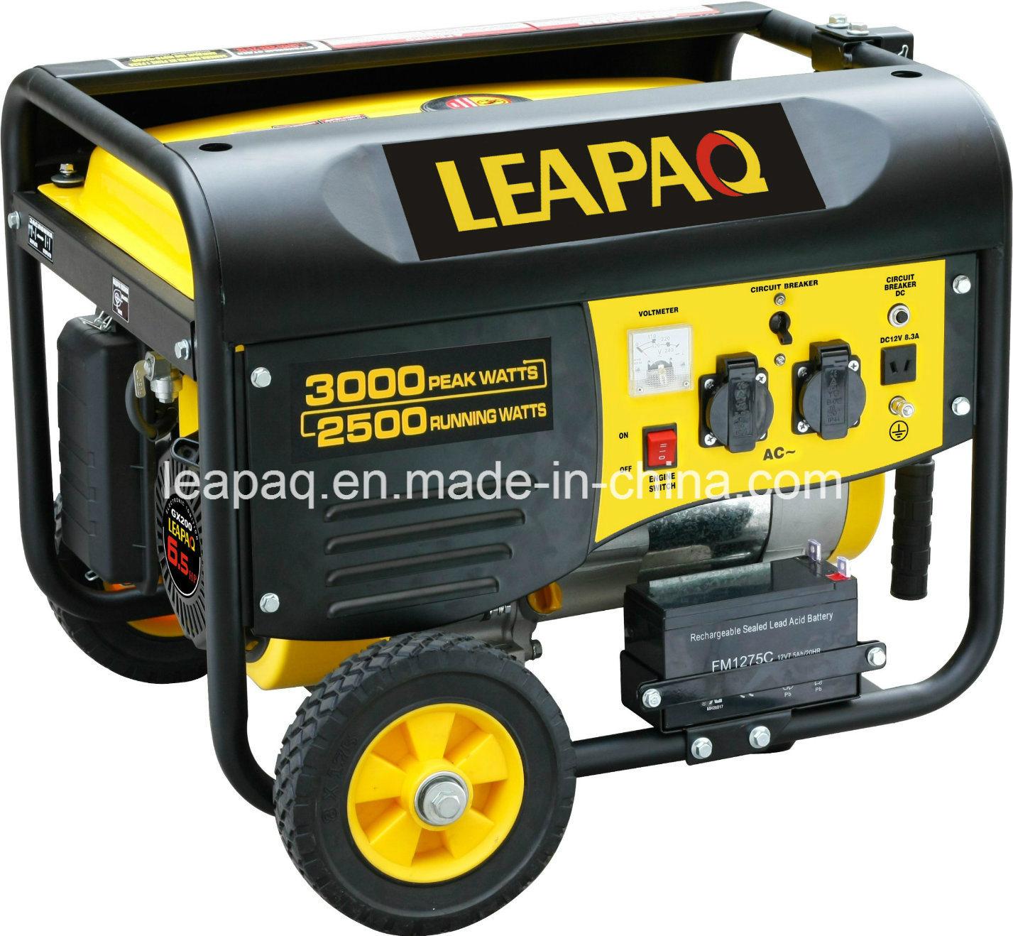 2.5kw Wheels & Handle P-Type Portable Gasoline Generator